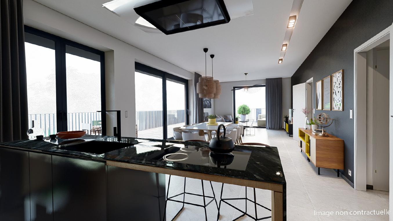 Gallerie de Appartement neuf 2 chambres 3A (Penthouse)