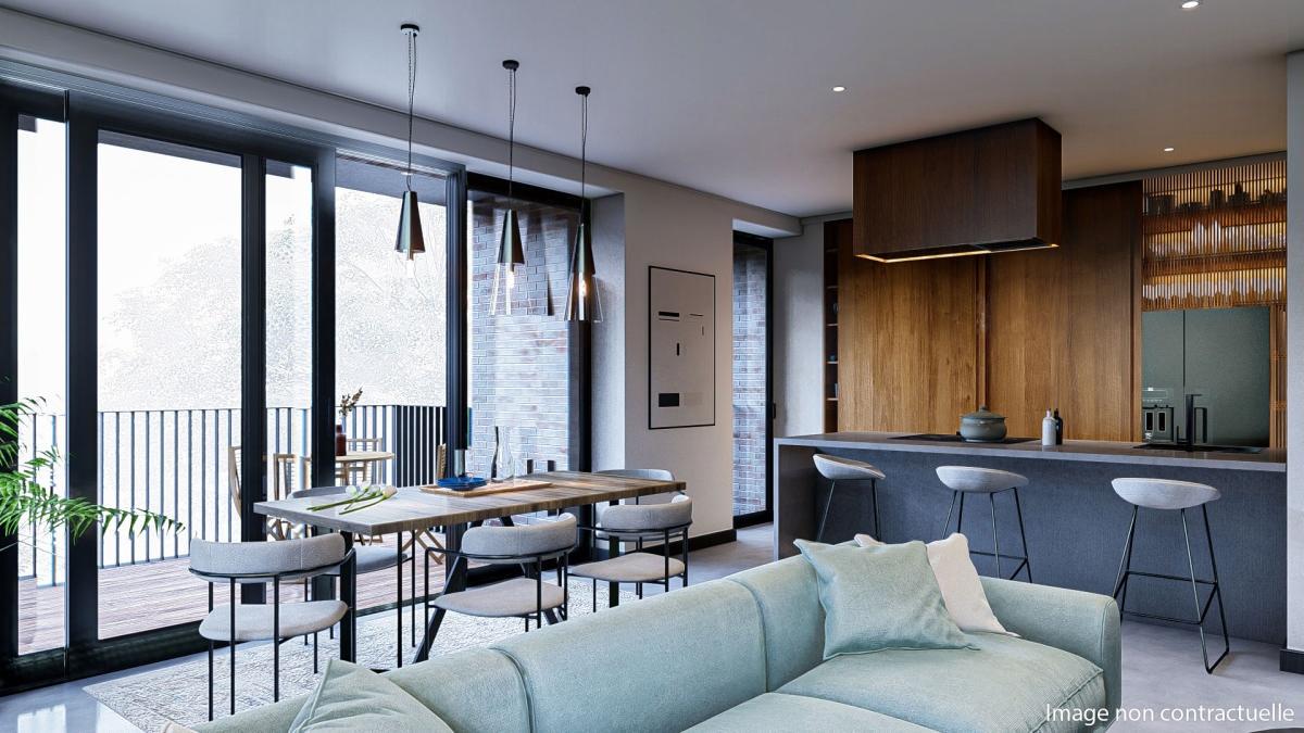 Appartement neuf 2 chambres  2E (2ème étage)