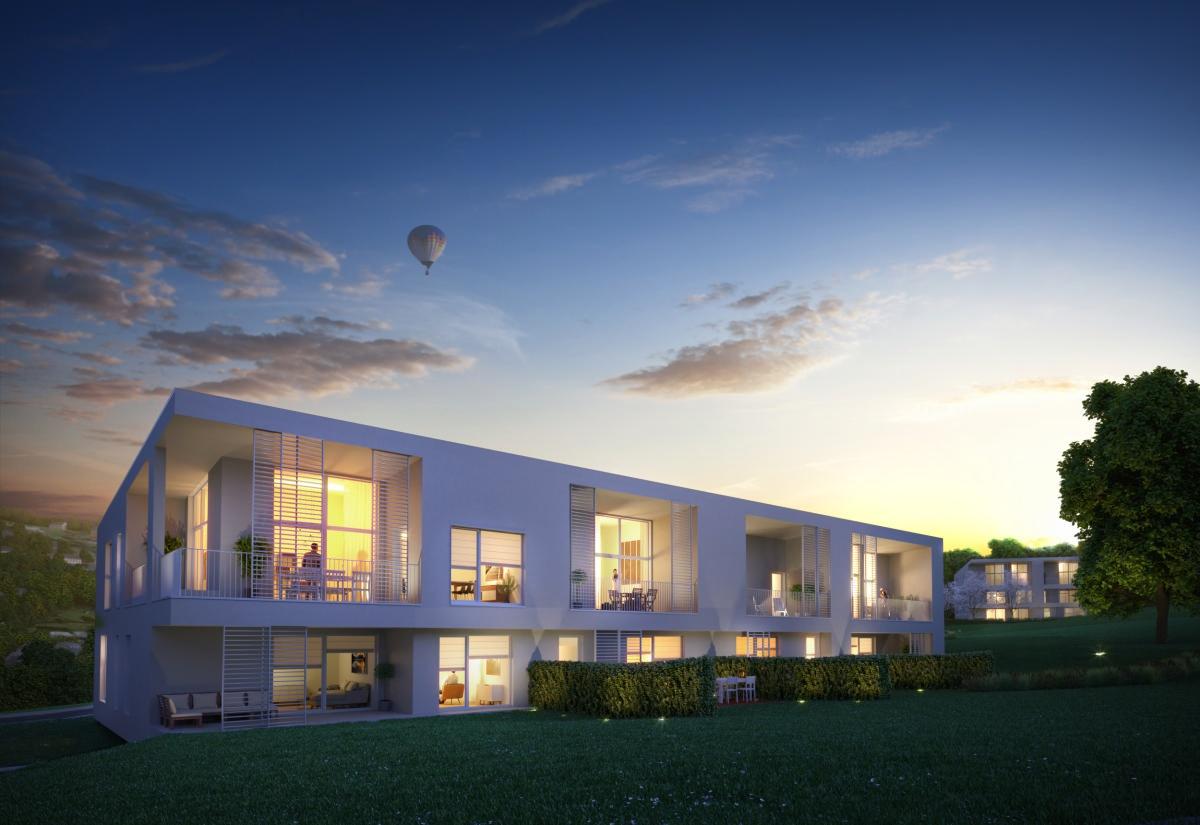 Appartement de 2 chàc du 3ème étage avec terrasse de 22 m2