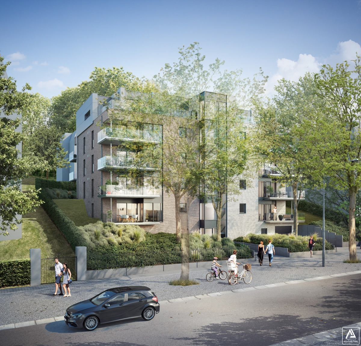 Appartement 2 chàc situé au 3ème étage : 91m2 et terrasse de 15m2