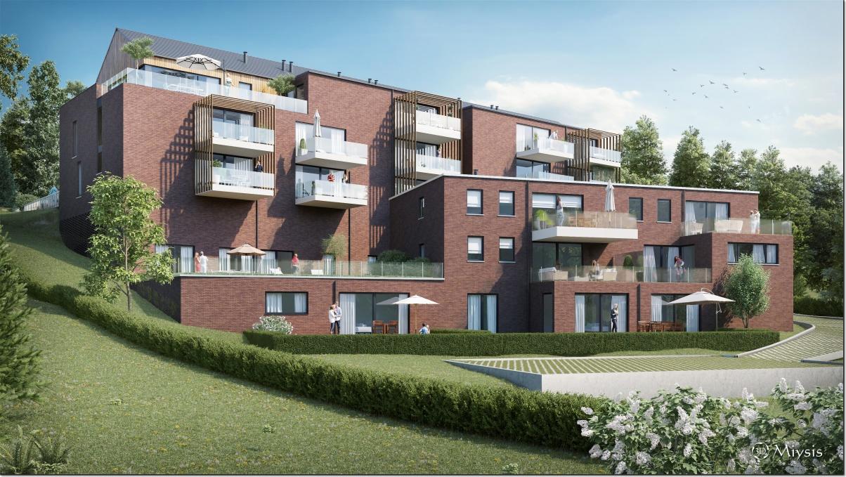 Niveau jardin-2 : appartement nr18 de 109 m2 avec terrasse de 17 m2 surplombant le jardin
